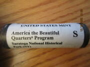 Us Mint 2015 S Atb Quarters Saratoga New York Ny Roll Not Bank Roll
