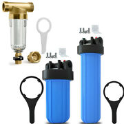 Spin Down Whole House Water Filter System 10/20 X 4.5 Inch Big Blue Housings