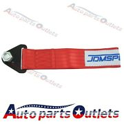 Red Color Universal Racing Competition Tow Strap Jdm 10,000 Lb Rating