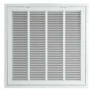 Zoro Select 4mjt8 Filtered Return Air Grille , 24 X 24 , White , Steel