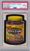 1974 Topps Wacky Packages Eviltime Psa 9 Mint Series 6 Packs Centered Tough