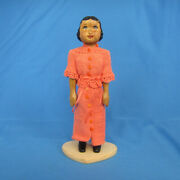 Hand Carved Butternut Wood Doll 6 1/2 Tall Hitty 9 By Gale Lyons 2009 Ooak