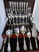 Old M+h Reed And Barton Francis I Sterling Silver 62pc Flatware Set For 8 +chest
