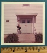 Vintage Photo Picture Photograph Man Sitting On A Handrail Above Some Steps 1965