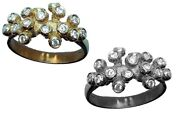 New Grapes Ring-sterling Silver And Cz Cubic Zirconia Crystals-the Good Life Joy