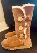 Ugg Australia Classic Bailey Button Triplet Brown Boots Size 7