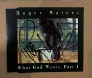 Roger Waters - Pink Floyd - Signed What God Wants - Uk Cd Ep - Uacc