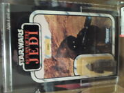 Rare Vintage Kenner Star Wars Afa 85 Jawa Rotj 65 Back A Carded Clear Bubble