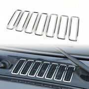 Hood Vents Cover Trim Decor Abs Decorative Cover For Jeep Wrangler Jl 2018+ T