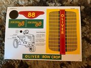 Decal For Oliver 88 Row Crop Pedal Tractor - New Nos - Scale Models