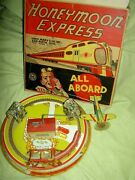 Marx Usa 1928 Honeymoon Express Working Wind Up Toy Train In Orig. Excellent Box