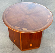 Mid Century Modern Lane Acclaim Hexagon Base Round Cabinet/table Texas Pickup