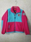 The Womens Small Trans-antarctica 1990 Spell Out Fleece Jacket Euc