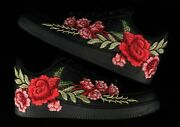 🌹 Nike Air Force 1 07 Low Red Rose Flower Floral Black Custom Shoes All Size 🌹