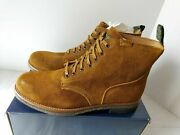 Polo Leather Roughout Suede Army Boot Mens Sz11.5d Brown Hiking Nib