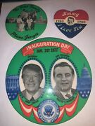 Political Campaign Pin Pinback Button Jimmy Carter Lot Of 3
