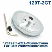 120 Teeth 2gt Timing Pulley Bore 6/6.35/8/10/12/14/15/16/19/20/22/25mm For Gt2