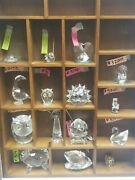 Lot Of Rare Retired Crystal Figurines Ref3203a