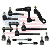14 Pc Suspension Kit For Ram 1500 Tie Rod End Ball Joints Idler Pitman Sway Bars
