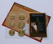 Saudi Arabia Coin Set - Various Years Monarchies Of The World - 24k Gold Plated