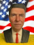 3d Printed Full Color Ronald Reagan Bust Statue Presidential Collectible