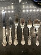 114 Pc Reed Barton Francis I Sterling Silver Flatware For 18 @ 6pcs + 7 Serving