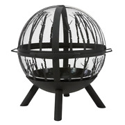 Briarglen Fire Ball Outdoor Fire Pit Durable Large Hanging Door Metal Base
