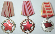Albania Medal Order For Good Service To State And Society 2,3 Class + Medal