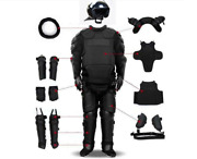 Full Set Tactical Police Body Protective Anti Riot Armor Suit Emergency Survival