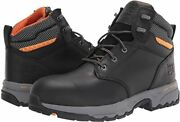 Pro Men's Band Saw 6 Inch Steel Safety Toe Industrial Work Boot Black