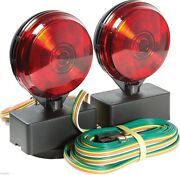 12v Magnetic Towing Tow Light Kit Trailer Rv Dolly Tail For Towed Car Boat Truck