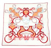 Hermes Stole Scarf Shawl Land039instruction Du Roy Silk Carre Geant 140 Auth Unused