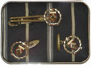 Matsuda Nicole Homme Cuff Links And Tie Clip Set Made In Japan Vintage 1980and039s