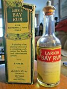 1920's Larkin Co. Bottle W/ Label/ Contents /box--bay Rum After Shave Buffalo Ny