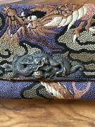 Antique Chinese Sterling Dragon Tabacco Pouch