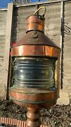 Original Copper And Brass Ships Port Lamp By Seahorse Gb C1