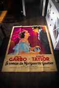Camille Very Rare 4x6 Ft French Grande Movie Poster Rerelease 1950's From 1937