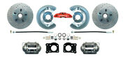 1964-73 Ford Mustang Front Disc Brake Conversion Kit Drum-disc Drilled Rotors