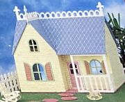 New Vintage Kids Dream House Wooden Doll House Build Kit 19 1/4 X 12 X 18 1/2