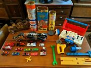 Huge Lot Of Vintage Antique Toys Fisher Price Tinkertoy Lincoln Logs Pull Cars