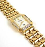 Michael Anthony14k Solid Yellow Gold Mother Of Pearl Diamond Ladies Watch Quartz
