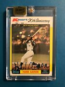 2016 Topps Archives Signature Series Hank Aaron 3/3 Kmart Signed Autograph