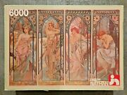 6000 Piece Puzzle And039the Four Times Of Day - Alfons Mucha 1983 - Very Rare