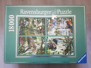 18000 Piece Puzzle And039tropical Impressionsand039 - Ravensburger - 2003 - Very Rare