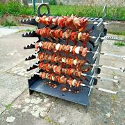 Kebab Skewer Portable Camping Fire Pit Stove Grill Collapsible Flat Pack Diy