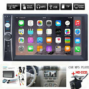 2din 7 Hd Car Stereo Radio Mp5 Player Bluetooth Touch Screen With Rear Camera