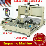 Usb 4 Axis 6090 2.2kw Cnc Router Engraver Engraving Milling Machine+controller