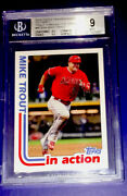 2018 Transcendent Mike Trout 1982 Topps History 32/83 Mt-82ia Vip Party 2019