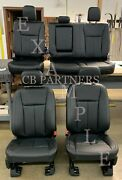 2015 - 2020 Oem Ford F150 Super Crew Take Off Black Leather Seat Upholstery