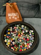 Mixed Lot Of Vintage Glass Marbles - 4 Pounds